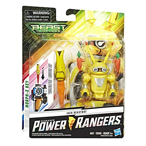 Power Rangers Beast Morphers Jax Beastbot, 15 cm große Actionfigur zur TV-Serie, für Kinder ab 4 Jahren