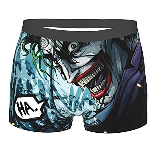 Bjiuda Jokers Herren Boxershorts, Unterwäsche, weiche Filme, Boxershorts, individuelle Geschenke für Jungen Gr. L, Schwarz