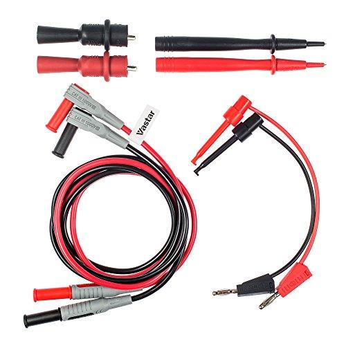 Vastar 8-Pieces Electronic Professional Test Lead Kit/Multimeter Accessory Kit