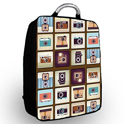 'Luxburg–Funda de Piel Tipo Libro para Apple de 15Pulgadas Mochila/Mochila para portátil con Metal Handle-Parent Cameras 15'