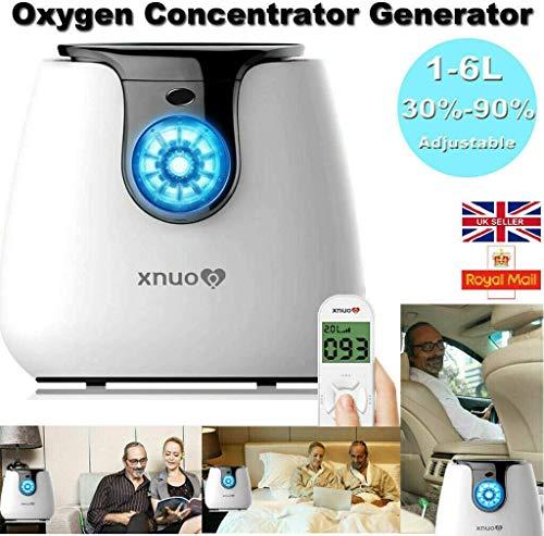YRRC Intelligente Haushalt tragbare Sauerstoffkonzentrator Generator Maschine 1-6L / min Maschine 220V für Home Reise Pkw-Nutzung