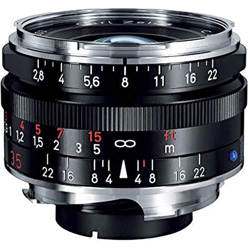 Zeiss Ikon C Biogon T* ZM 2,8/35 Weitwinkel-Kameraobjektiv für Leica M-Mount Entfernungsmesser Kameras, Schwarz (1486-393-L)