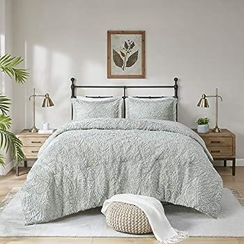 Madison Park Norfolk Super Soft Plush Faux Fur Paisley Blush Luxury Bedding Set Bedroom Comforters King Grey