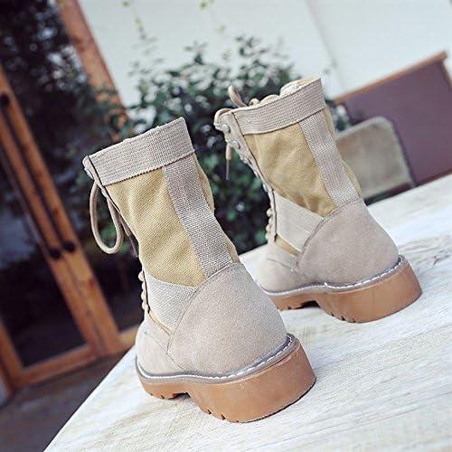 AGECC Stiefel de Viento cómodas y duraderas para damen, Stiefel de otoño Altas para el Desierto, Stiefel Retro para el ejército