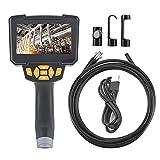 Tanke Endoscopio Industrial 1080P HD 5.64 Pulgadas LCD Cámara de inspección Digital Boroscopio Impermeable Negro