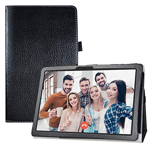 LFDZ Compatible with Funda MatrixPad Z4 10,Soporte Cuero con Slim PU Funda Caso Case para 10.1' Vankyo MatrixPad Z4 / MatrixPad Z4 Pro,Negro