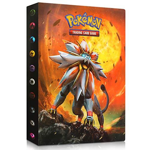 Sinwind Classeur pour Pokemon, Porte Carte Pokemon, Livre Carte Pokemon, Pokemon Cartes Album Capacité de 240 Cartes pour Pokémon Commerce Cartes GX EX boîte (Sun&Moon)