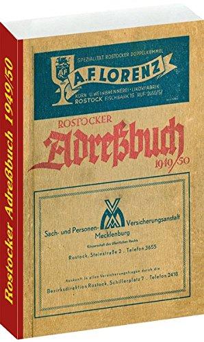 ROSTOCKER ADRESSBUCH 1949/50: Adressbuch - Einwohnerbuch - mit Rostock, Warnemünde, Gehlsdorf, Bartelstrof, Bramow, Dalwitzhof, Dierkow, ... - Einwohnerbuch Stadt Rostock 1949/50