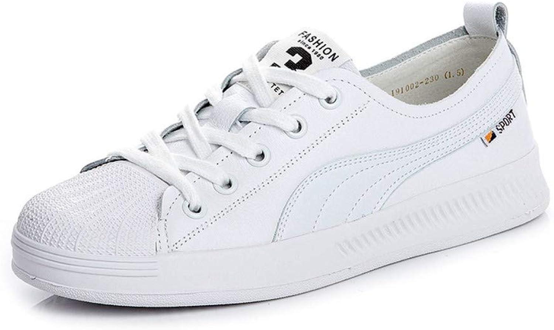 ZHIJINLI Schuhe Frauen in in in Flut Wilde Flache weiße Schuhe Schalentiere Freizeitschuhe, 5 GRÖSSE  9e765a