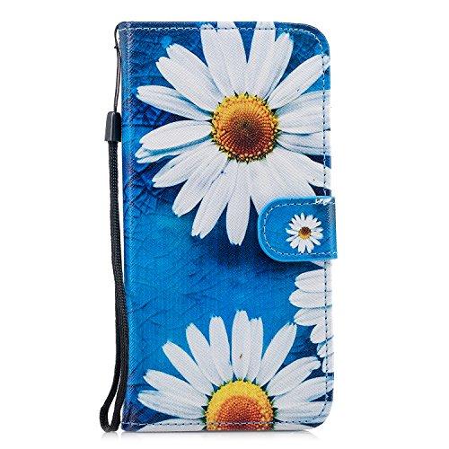 FNBK - Funda de piel con tapa para Samsung Galaxy S9 Plus, con correa de mano, con función atril, tarjetero, diseño de gato, flores