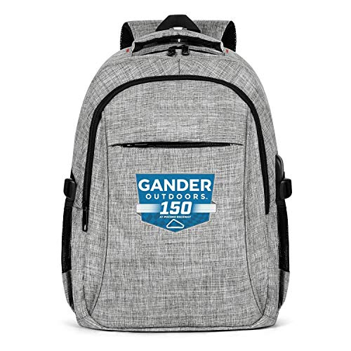 Laptop Backpack Waterproof Gander-Outdoors- College School Bookbag with USB Charging Port for Men Womens Durable Laptops Backpack Fits 15.6 Inch Laptop Notebook-Grey