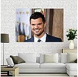 YUMKNOW Leinwand Bilder 50x70cm Kein Rahmen Taylor Lautner