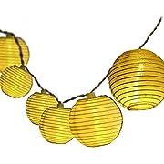 Solar Fairy Lights, Dailyart Halloween 15.8FT 20LED White Lantern Solar String Lights IP65 Waterproof Christmas Lighting Solar Powered light string for Garden, Patio, Yard, Home, Christmas Tree, Party--Halloween (Warm White) [Energy Class A+]