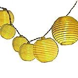 4.8M Catena di 20 luci LED con lanterne in tessuto impermeabile bianco...