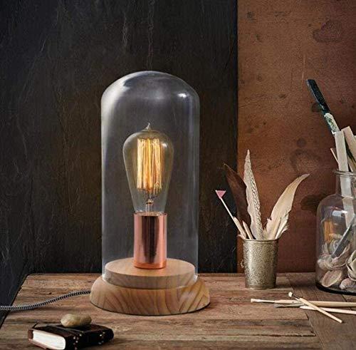 Lámpara de escritorio ideas simples retro moda caliente lámpara de mesa de cristal decoración habitación dormitorio escritorio mesita de noche lámpara 1 A