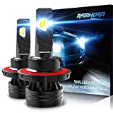 RAMHORN H13 LED Headlight Bulbs,360 Degree Adjustable Beam 10000Lm 6500K Cool White CREE Chips 9008 Conversion Kit of 2