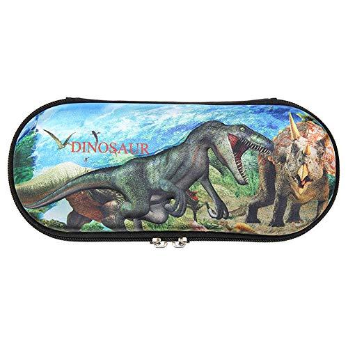 Stationery Box, EVA Pencil Case, Pen Pouch Holder, EVA Pencil Bag Case Student Dinosaur Boxes Holder Storage Stationery (B)