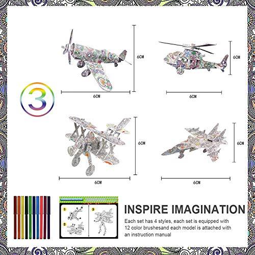 3D Paint Puzzle Spielzeug, Brain Teaser Puzzles, Holz Modell Paint Kit Mit Stift, DIY Graffiti Färbung, Lernspielzeug, Modell Ornament Für Jungen Mädchen