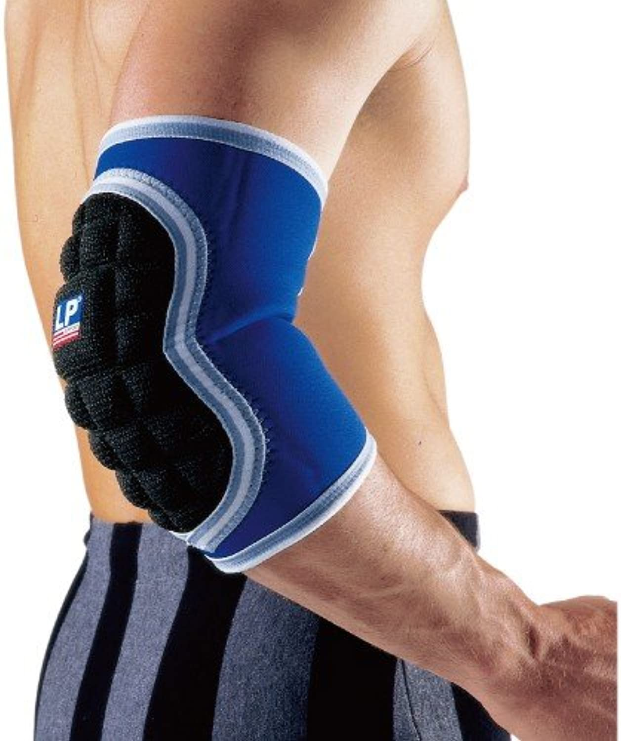 LP Deluxe Elbow Pad Size M Black blueee