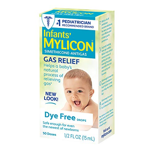 Mylicon Gas Relief Drops for Infants and Babies, Dye Free Formula, 0.5 Fluid Ounce