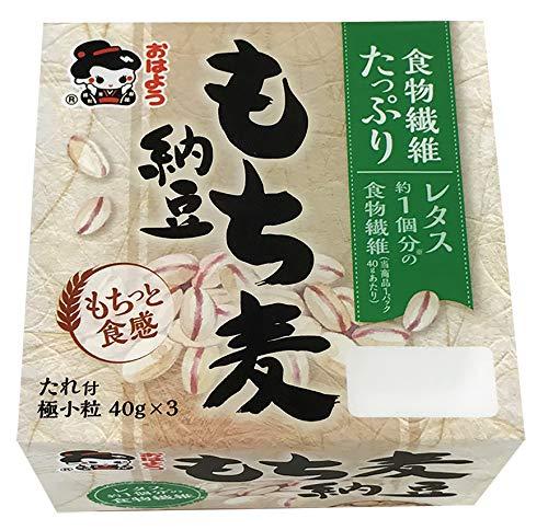 おはよう納豆 もち麦納豆極小粒ミニ3(40g×3) 12個入