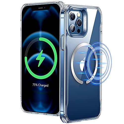 """ESR Funda Compatible con iPhone 12 Pro MAX 6.7"""", Magnética Carcasa Compatible con MagSafe y Carga inalámbrica, Funda HD Claro Híbrido, Anti-arañazos, Antideslizante, Transparente"""