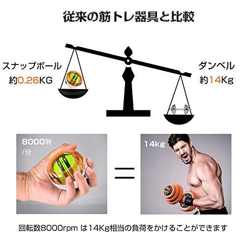 DUKKOREスナップボールオートスタット計数機能LED発光手首筋力トレーニング