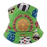 N / A Casino Coloré Microfibre Echarpe Tête Pirate Balaclava Elastique Bande De Cheveux Lavable Cache-Cou Unisexe Tube Bandeaux Echarpe Gaiter pour Yoga Moto Jogging