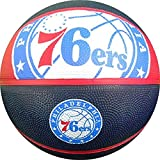 Spalding NBA Philadelphia 76ers Team Logo Basket Ball, 29.5', Multicolor