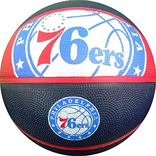 NBA Philadelphia 76ers Spalding Team Logo Basketball, 74,9 cm, Mehrfarbig