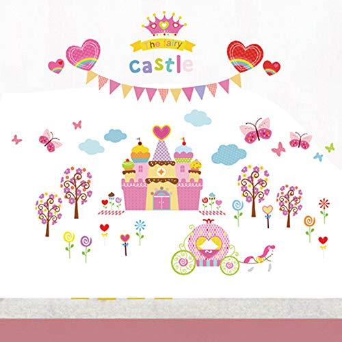 Cartoon Dream Castle Children's Room Background Wall Autocollant mural décoratif