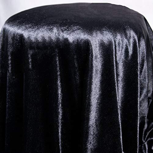 YUANYOU Mantel de poliéster negro, rectangular, impermeable, lavable, para el hogar, jardín, fiesta, cocina, decoración de mesa (150 x 400 cm)