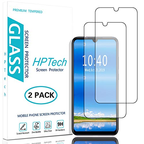 HPTech Redmi Note 7 Screen Protector - (2-Pack) Tempered Glass Film for Xiaomi Redmi Note 7/ Redmi Note 7 Pro/Note 8/ Redmi 7 Easy to Install, Bubble Free with Lifetime Replacement Warranty