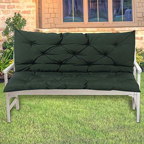 ZJZ Cojín de Banco para jardín al Aire Libre Cojín de Banco para Patio Cojín para Tumbona para sofá de jardín, 100x50x10cm