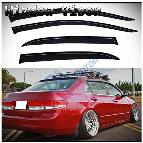D/&O MOTOR 4pcs Front+Rear JDM Smoke Sun//Rain Guard Outside Mount Tape-On Window Visors For 96-00 Honda Civic 4-Door Sedan