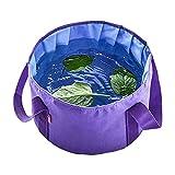 WGDPMGM Cubo Plegable 20x30cm Gran Capacidad de baño de Masaje de pie de baño de Viajes al Aire Libre Bolsa de baño portátil Lavabo Cubo (Color : Purple)