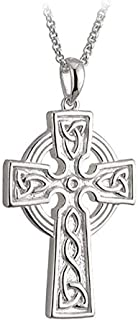 Sponsored Ad - Biddy Murphy Celtic Cross Necklace for Men Sterling Silver Double Sided Made in Ireland