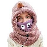 Lazzon Kinder Sturmhaube, Winter Balaclava Fleece Ski Gesichtsmaske, Junge Mädchen Wintermütze Schal Set für Outdoor Sport