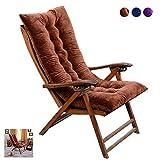 NANANA Outdoor-Matratze Garten-Sonnenliege, Liegestuhl für Drinnen und Draußen, Sonnenliege Auflage Liegestuhl Stuhlkissen,50X120cm,Braun