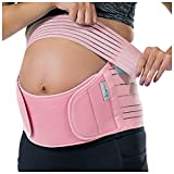 Belly Band for Pregnancy, Pregnancy Belly Support Band - Maternity Belt for Back Pain. Adjustable/Breathable Belly Support for Pregnancy. Baby Pink Color/Size XL