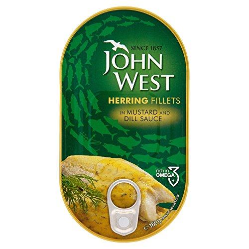 John West - Filetti per aringa in salsa di senape, 160 g x 10 confezioni da 1