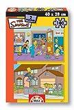 Educa Borrás Puzzle 2x100 The Simpsons Escu