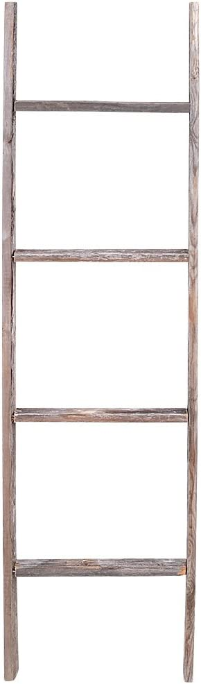 4' Limited time Max 43% OFF for free shipping Reclaimed Barnwood Ladder Rustic