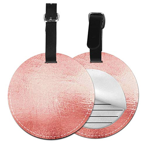 Etiquetas para Equipaje Bolso ID Tag Viaje Bolso De La Maleta Identifier Las Etiquetas Maletas Viaje Luggage ID Tag para Maletas Equipaje Metal Rosa Dorado