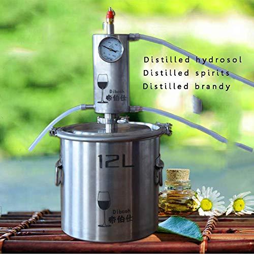 Destillation Bier 12 l Neu DIY Haus Alambicco Destillator Dampf Destillation Temperatur Edelstahl Wasser Alkohol Wein Ätherische Öle Komplettset