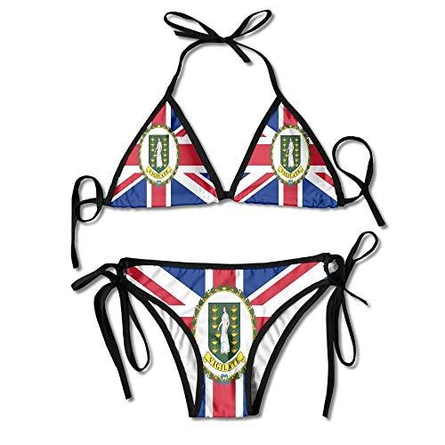 Bikini De 2 Piezas Bandera De Las Islas Vírgenes Británicas Sexy Holiday Acogedor Regalo De Piscina Bikini Set Beach Durable Birthday Hawaii Traje De Baño Traje De Baño 2 Piezas Ro