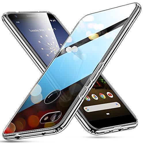 ESR Glashülle kompatibel mit Google Pixel 3a XL Hülle - 9H Hartglas Handyhülle mit dualer Rückseite - Kratzfeste Schutzhülle mit weichem TPU Bumper für Google Pixel 3a XL- Klar
