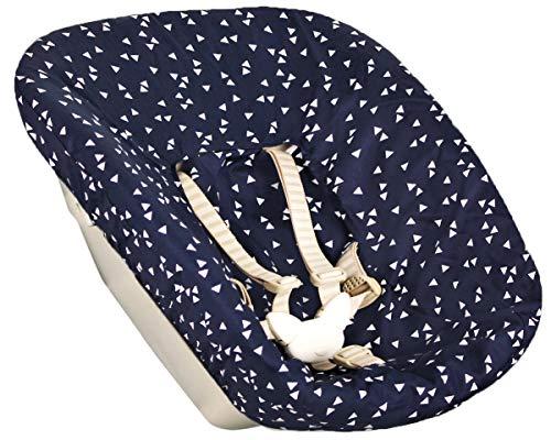 Stokke Tripp Trapp Newborn Set Azul Triángulo Öko-Tex 100 Algodón Recycelbar Absorbe el sudor y suave para su bebé