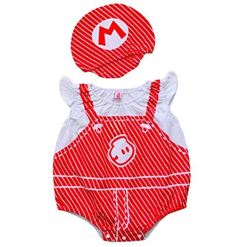 Trajes de Bebé Recién Nacido Body Sin Mangas y Conjunto de Sombreros Trajes de Verano para Bebés Disfraz Suave y Cómodo Disfraz Carnaval Navidad Halloween Unisex 3-18 Meses