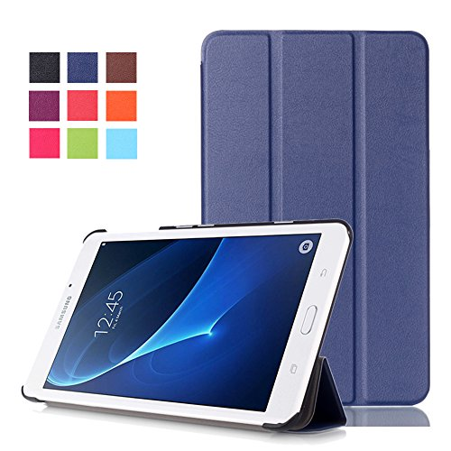 Skytar Galaxy Tab A 7 Inch Cover,Folding Stand Cover Leather Case Protection for Samsung Galaxy Tab A 7.0 Inch SM-T280/SM-T285 Tablet 2016 Release,Navy blue